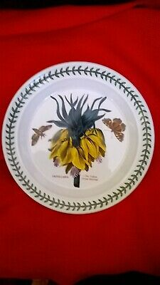 "Portmeirion Botanic Garden Dinner Plate 10.5"" Wide The Yellow Crown Imperial"