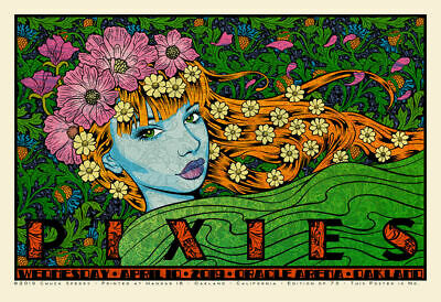 Pixies Poster Chuck Sperry Print Oakland Oracle Arena Weezer XX/75 IN HAND