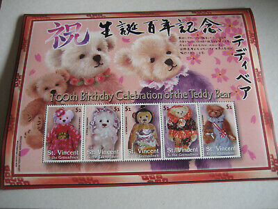 ST VINCENT & THE GRENADINES  2003   100th ANNIVERSARY OF TEDDY BEARS  SHEET II