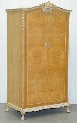 Maple & Co Art Deco 1930'S Burr Walnut Single Wardrobe Part Of A Large Suite