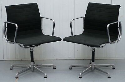 1 Of 2 Original Ea117 Charles & Ray Eames Icf Vitra Office Swivel Armchairs