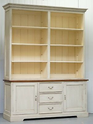 Very Large Shaker Kitchen Haberdashery Cupboard Dresser Bookcase Panelled Oak