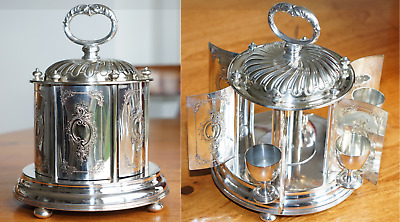 Rare Mappin & Webb Princess Silver Plate Hard Boiled Egg Cup Decanter Plated