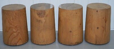 Set Of 4 Rrp £3,708 Riva 1920 Hand Made In Italy Cedar Wood Stools Part Suite