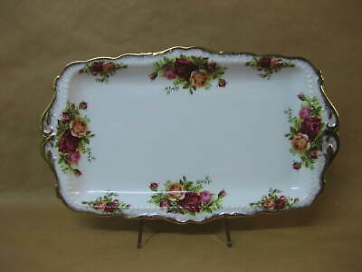 Royal Albert Old Country Roses Sandwich Plate / Tray ~ 1st ~ English Bone China