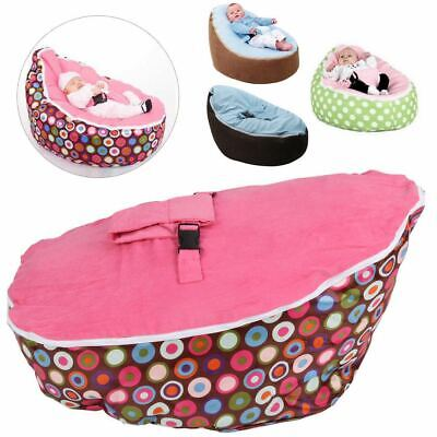 Baby Bean Bag Adjustable Harness Kids Toddler Chair Bouncer Beanbag Cover