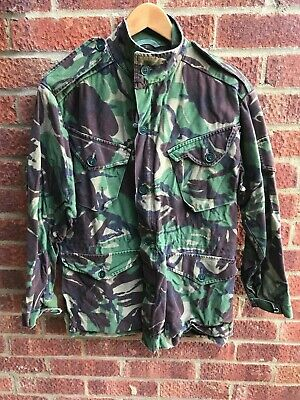 Old School British Army Surplus Woodland Dpm Camo 85 Patt Combat Smock,Pattern
