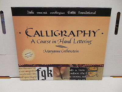 Calligraphy Course In Hand Lettering Guide Book Maryanne Grebenstein Gothic
