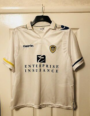 LEEDS UNITED OFFICIAL HOME SHIRT 2011-2012 Macron Ladies Size 18 (NEW)