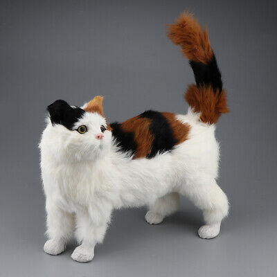 Lifelike Stuffed Kitten Standing Cat Plush Soft Toys Animal Pet Home Decor