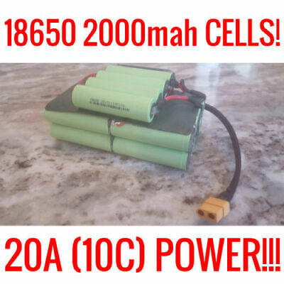 Sona 36V 4.4Ah Battery Pack 18650 Ebike Vape Powerwall Batteries 20 Cells Bms
