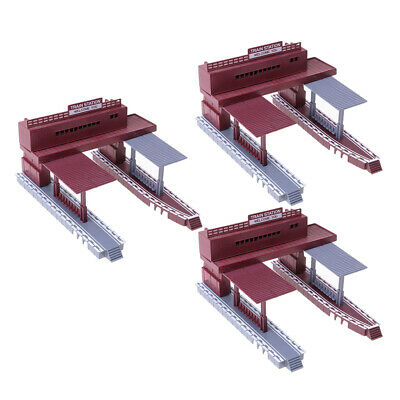 3x Scale Passenger Station with 2 Platforms Train Building Diorama Scenery