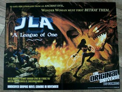 JLA League of One 2000 Wonder Woman Christopher Moeller GN DC PROMO Poster VF