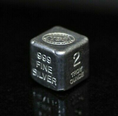 "2oz Hand Poured 999 Silver Bullion Bar ""Cube"" YPS - Yeager's Poured Silver [DUD]"