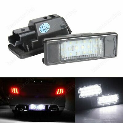 LED License Number Plate Light Lamp Citroën Berlingo C2 C3 C4 C5 C6 C8 DS3 Jumpy