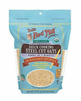 Bobs Red Mill Organic Quick Cooking Steel Cut Oats 22oz