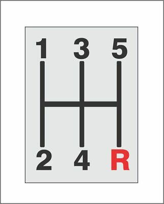 Shift Pattern Five-Speed 5 Speed Sticker Decal for Manual Cars