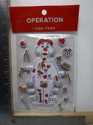 JUNK FOOD OPERATION PUFFY STICKERS GAME PIECES FUN NEW A15583