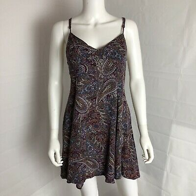American Eagle Outfitters Sun Dress Keyhole Back Paisley Boho Chic Large L