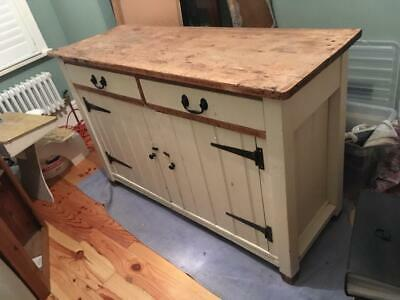 KITCHEN CUPBOARD Jas Shoolbred & Co. Country Farmhouse Kitchen Chicy Shabby VGC