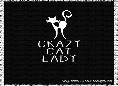 Love cats kitten kitty crazy cat lady heart car truck window sticker decal #554