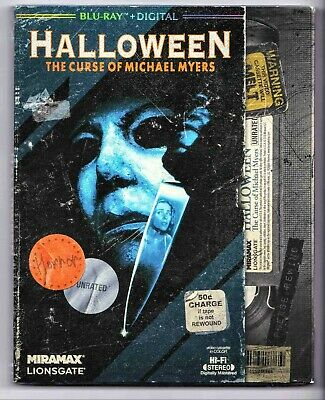 HALLOWEEN: THE CURSE OF MICHAEL MYERS (Blu-ray+Digital) VHS SLIPCOVER-SEALED!