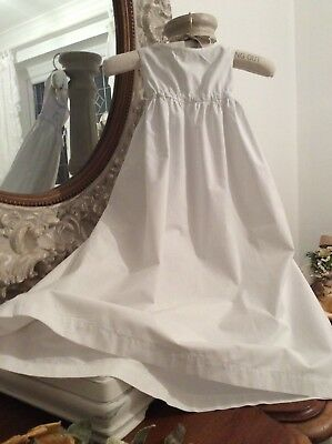 Antique French Baby Christening Gown/Petticoat ~ Medium cotton textil~Excellent!