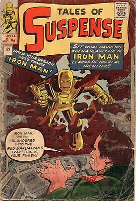 TALES OF SUSPENSE #42 Iron Man Marvel 1963 Fa+/GD-