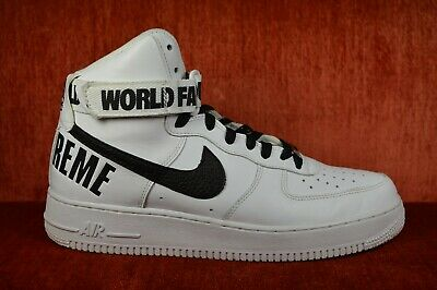 NIKE AIR FORCE 1 High SUPREME X World famous Red White Size