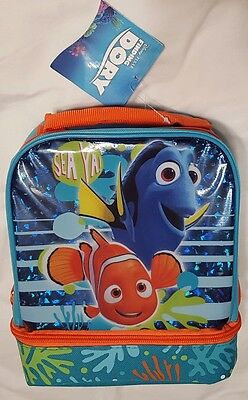 13f06f1f32a6 DISNEY FINDING DORY Drop Bottom Lunch Kit Dual Compartment Nemo Bag ...