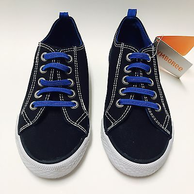 Gymboree Boys Space Navy Blue Voyager Stretch Laces Uniform Shoes Size 11 New