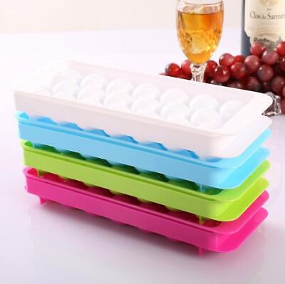 Plastic ice lattice round ice tray creative ice maker plastic 20 lattices cover