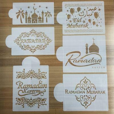 Mosque Eid Mubarak Ramadan Design Coffee Stencils Cookie Decoration Tools 2019