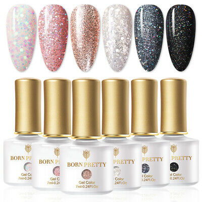 6 Colors/Set Gel Nail Polish Soak Off UV/LED Gel Varnish 7ml  LILYCUTE
