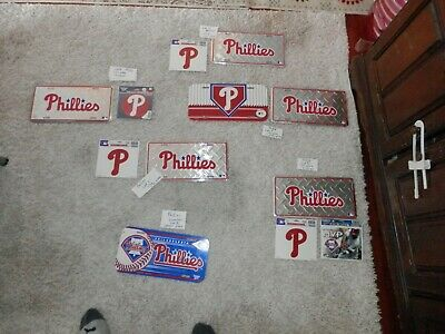 MLB memorabilia lot lots License Plate magnets window clings new & vtg free ship