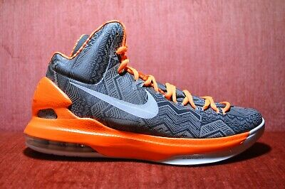 the best attitude 8c540 3517d WORN ONCE Nike KD BHM Kevin Durant 5 583107-001 Size 10 Antracite Black  Orange