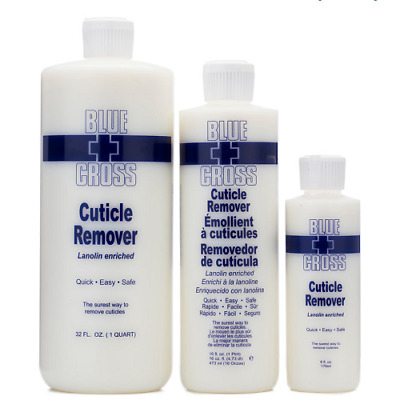 Blue Cross Cuticle Remover 170ml (6oz) / 946ml (32oz) Lanolin Enriched