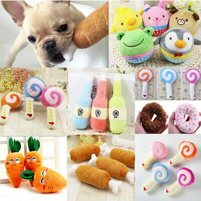 1PC Dog Toy Play Funny Pet Puppy Chew Squeaker Squeaky Cute Plush Sound Toys