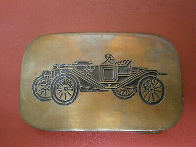 Vintage Solid Brass Belt Buckle -1978 Baron Buckle -Taiwan- Convertible Model A?
