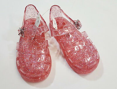 8ef0218a69e7 NWT Baby Gap Girls Size 7 or 8 Pink Basket Weave Jelly Jellies Sandals Shoes