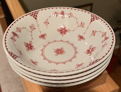 "Johnson Brothers DENMARK PINK  6 1/2"" Soup Cereal Bowls Set(s) of 4"