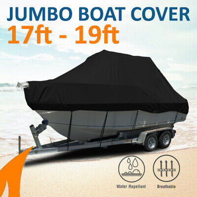 Heavy-Duty, Marine Grade 17ft-19ft / 5.2m-5.8m Trailerable Jumbo Cover - Black
