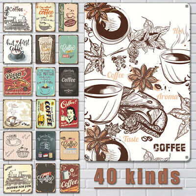 Tin Metal Cafe Signs For Kitchen Wall Decor Plaque Poster Coffee Menu Pub