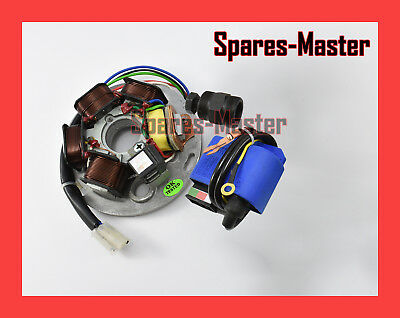 Vespa Lml 125 150 Coil Plate & Ignition Cdi Unit With Puller Tool 12v -SM
