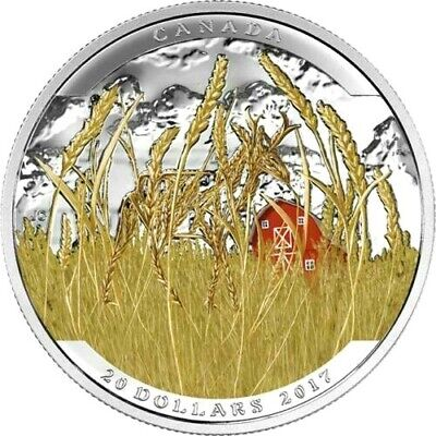 2017 Canada $20 Dollars 9999 silver coin Landscape Illusion - Pronghorn Color