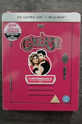 BLU-RAY  STEELBOOK  GREASE 4K + 2D  ZAVVI avec VF
