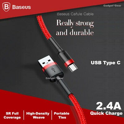 BASEUS USB TYPE-C Fast Charge Charging Data Cable For Motorola Moto G6 G7 Plus