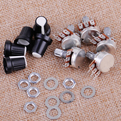 5pcs 10K OHM 3 Terminal Linear Taper Rotary Audio B Type Potentiometer Pot Knob