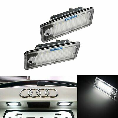 2x Audi 18 LED License Number Plate Light Canbus S3 A4 B6 S4 B7 RS4 Sedan Avant