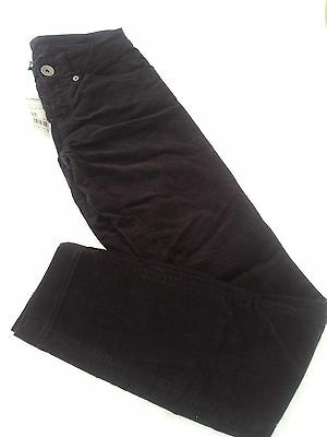 Benetton - Ladies or Girls Black Needlecord Trousers - BNWT - Size 6